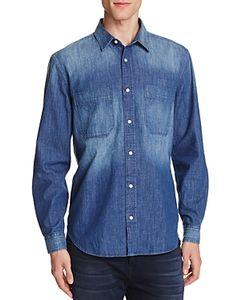 7 For All Mankind | Indigo Denim Regular Fit Button-Down Shirt