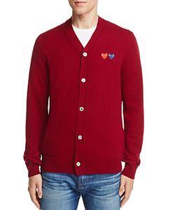 Comme Des Garçons Play   Comme Des Garcons Play Double Heart Cardigan Sweater