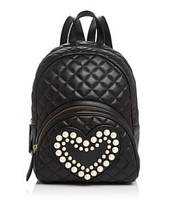 Boutique Moschino | Faux-Pearl Heart Backpack