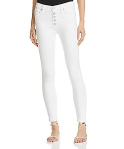 Hudson | Ciara High Rise Exposed Button Jeans In