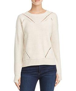 Aqua | Sophia Drop Stitch Crewneck Sweater 100 Exclusive