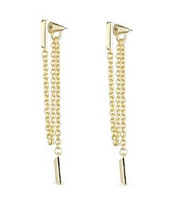 Eddie Borgo | Draped Chain Bar Drop Earrings