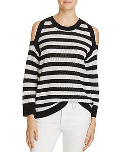 rag & bone/JEAN | Tracey Stripe Cold Shoulder Sweater