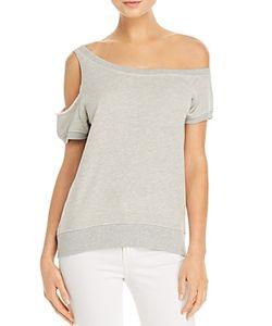 Pam & Gela   Cold-Shoulder Sweatshirt