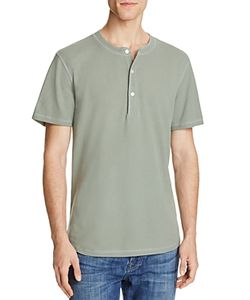 7 For All Mankind | Thermal Short Sleeve Henley Tee