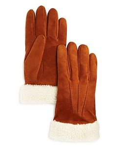 The Men's Store At Bloomingdale's | Shearling Suede Gloves