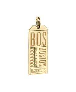 Jet Set Candy | Bos Boston Luggage Tag Charm