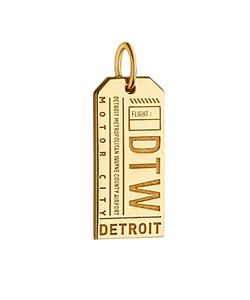 Jet Set Candy | Detroit Michigan Dtw Luggage Tag Charm