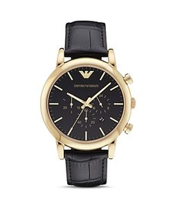 Emporio Armani | Leather Strap Watch 46mm