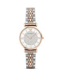 Emporio Armani | Pave Two-Tone Watch 32mm