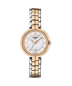 Tissot   Flamingo Two Tone Quartz Watch With Mother Of Pearl