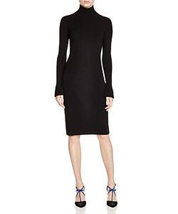 Paule Ka | Turtleneck Ribbed Sweater Dress