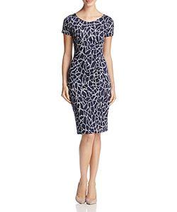 Max Mara   Salute Jacquard Geometric Print Dress