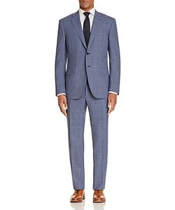 Canali   Micro Houndstooth With Windowpane Classic Fit Travel Suit 100