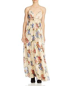 Free People   Shadows Printed Silk-Blend Gown