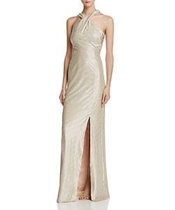Laundry by Shelli Segal   Cross-Front Gown