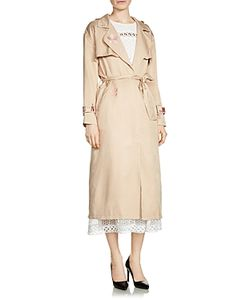 Maje | Glorie Embroidered Trench Coat