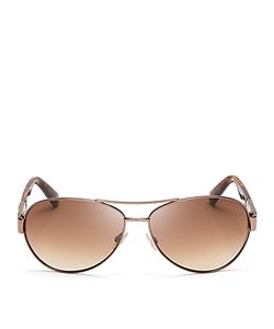 Jimmy Choo | Mirrored Baba Aviator Sunglasses 59mm