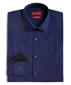 Hugo   Micro Basket Check Slim Fit Dress Shirt