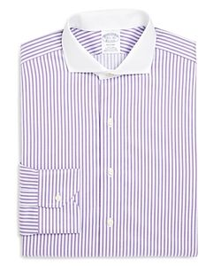 Brooks Brothers | Bold Stripe Non Iron Classic Fit Dress Shirt