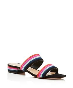 Loeffler Randall | Rubie Color Block Stripe Slide Sandals