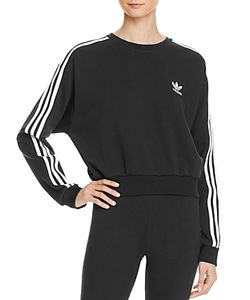 Adidas Originals | Three Stripe Crop Sweatshirt