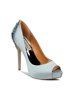 Badgley Mischka | Peep Toe Platform Evening Pumps Kiara High Heel