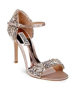 Badgley Mischka | Tampa Embellished Dorsay Ankle Strap Sandals