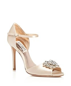 Badgley Mischka | Bandera Embellished Ankle Strap High Heel Sandals