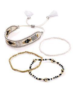 Aqua   Larken Beaded Bracelets Set Of 4 100 Exclusive