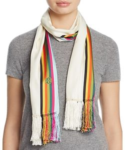 Tory Burch | Soul Stripe Silk Oblong Scarf