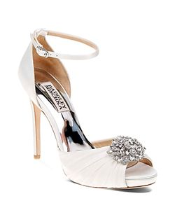 Badgley Mischka | Tad Embellished High Heel Ankle Strap Sandals