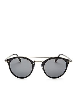 Oliver Peoples | Remick Brow Bar Round Sunglasses 49mm