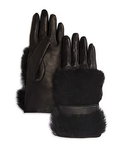 Bloomingdale's | Cashmere Lined Rabbit Fur Gloves 100 Exclusive