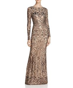 Avery G   Long-Sleeve Sequin Gown