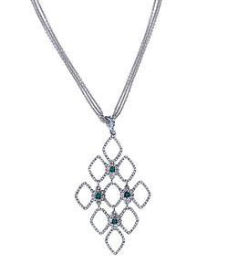 Ralph Lauren | Lauren Pave Open Pendant Necklace 17