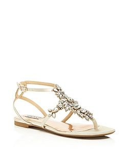 Badgley Mischka | Cara Embellished Ankle Strap Sandals