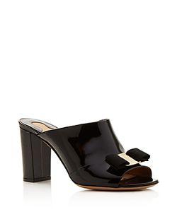 Salvatore Ferragamo | Elfina Block Heel Slide Sandals