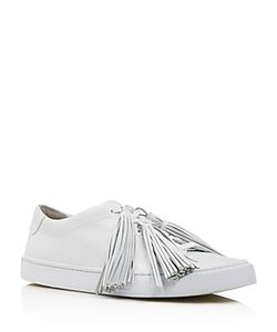 Loeffler Randall | Logan Tasseled Low Top Lace Up Sneakers