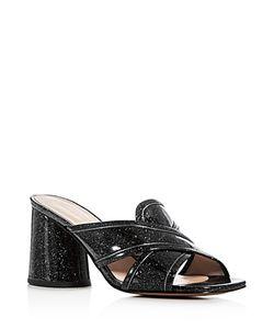 Marc Jacobs | Aurora Glitter Crisscross Slide Sandals