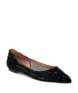 Badgley Mischka | Gigi Embellished Pointed Toe Flats