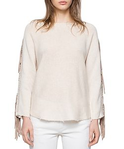 Zadig & Voltaire | Banko Leather Fringe Cashmere Sweater