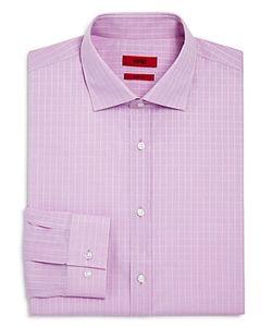 Hugo   Enderson Check Slim Fit Modern Fit Dress Shirt
