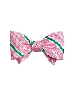 Brooks Brothers | Textured Stripe Self-Tie Bow Tie