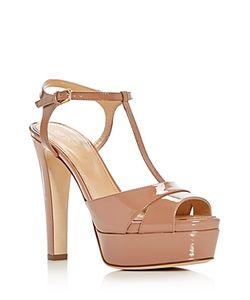 Sergio Rossi   Edwige T-Strap High Heel Platform Sandals