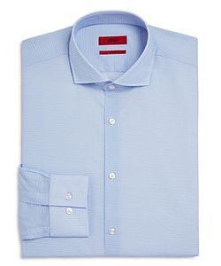 Hugo   Jason Micro Circle Print Slim Fit Dress Shirt