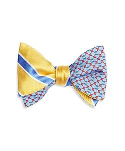 Brooks Brothers | Double Sided Stripe/Raft Self Tie Bow Tie