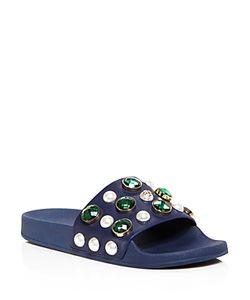 Tory Burch | Vail Embellished Pool Slide Sandals