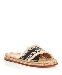 Pour la Victoire | Pikko Embroidered Espadrille Slide Sandals