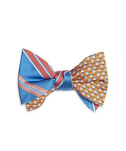 Brooks Brothers | Double Sided Stripe/Hat Self Tie Bow Tie